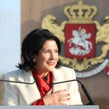 S. Zurabišvili prisaikdinta Gruzijos prezidente