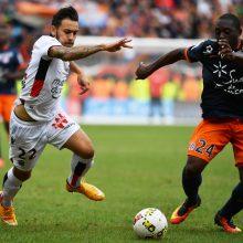 """Prancūzijoje """"Montpellier"""" ir """"Nice"""" klubai sužaidė taikiai"""