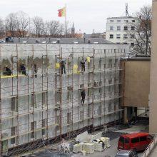 Remontuojama Klaipėdos rotušė