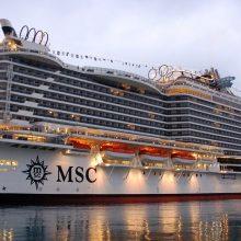 """Įvaizdis: """"MSC Seaside"""" - tarsi daugiaaukštis namas."""