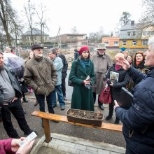 Protestuotojai nori gelbėti Kauko laiptų medžius