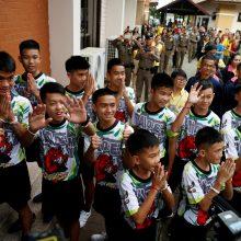Iš urvo Tailande išgelbėti berniukai: tai stebuklas