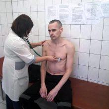 O. Sencovas bado streiką baigė pakirsta sveikata