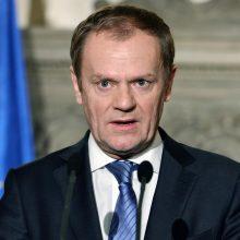 D. Tuskas: ES turi būti pasiruošusi blogiausiems D. Trumpo politikos scenarijams