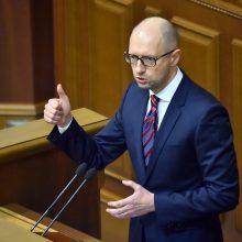 Buvęs Ukrainos premjeras A. Jaceniukas apskųs Rusiją EŽTT