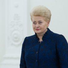 Kaip prezidentė D. Grybauskaitė prisideda prie tam tikrų renginių?