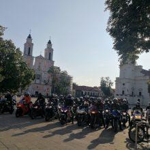 Motociklų mėgėjai pradžiugino dienos centro vaikus