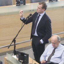 G. Landsbergis rėžė: premjeras arba meluoja, arba yra bailys
