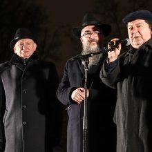 Vilniuje įžiebta pirmoji Chanukijos žvakė