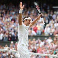 Rekordas jau visai arti: R. Federeris – Vimbldono finale