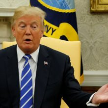 D. Trumpas: JAV pasirengusi bet kam konflikte su Šiaurės Korėja