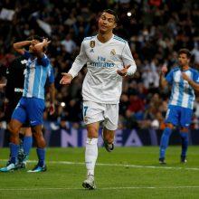 """C. Ronaldo nerealizavo baudinio, bet pergalę """"Real"""" klubui išplėšė"""