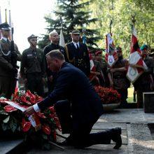 Varšuva paminėjo sukilimo prieš nacius 74-ąsias metines