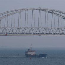 Kerčės sąsiauryje užsidegus dviem laivams žuvo devyni žmonės