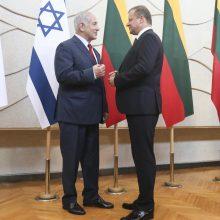 Izraelis siekia sustiprinti ryšius su Lietuva, kad atsvertų ES kritiką