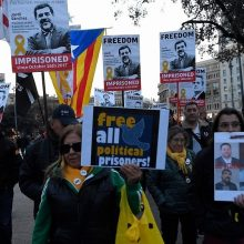 Suimti penki katalonų separatistai, tarp jų kandidatas į regiono vadovus