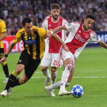 """Čempionų lygoje – """"Ajax"""" pergalė ir lygiosios Ukrainoje"""