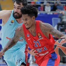 CSKA krepšininkai Eurolygoje iškovojo aštuntąją pergalę