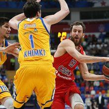 """""""Chimki"""" prakeiksmo nenutraukė: Eurolygos ketvirtfinalyje – sunki CSKA pergalė"""