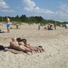 Palanga savaitės viduryje: vasariška šiluma ir pustuštis pliažas