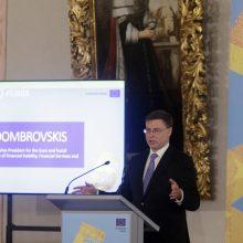 Eurokomisaras V. Dombrovskis: euro zona dabar daug geriau pasiruošusi atlaikyti krizę