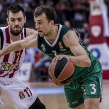 """""""Žalgirio"""" krepšininkai Eurolygos atkrintamąsias varžybas pradėjo pergale"""