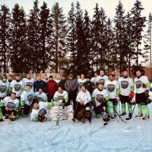 """""""Kaunas Hockey"""" po atviru dangumi Rokiškyje iškovojo užtikrintą pergalę"""