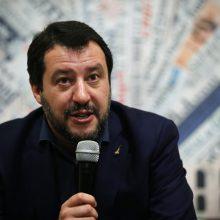 Italijos premjero posto siekiantis M. Salvini žada peržiūrėti poziciją dėl Rusijos