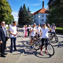 """Tarptautinę priešvėžinę iniciatyvą """"Ride4Women"""" Kaune palydėjo A. Veryga"""