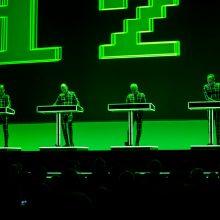"""Kraftwerk"" koncerte Kaune – skaitmenizuoti 3D vaizdai"