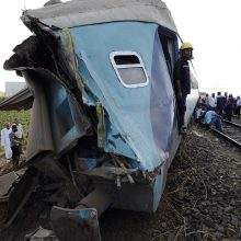 Egipte susidūrus traukiniams žuvo mažiausiai 36 žmonės