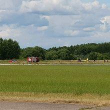 Aleksoto aerodrome nukrito avariniu būdu turėjęs leistis lėktuvas (papildyta)