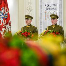 Valstybės jubiliejaus išvakarėse pagerbtas signatarų atminimas