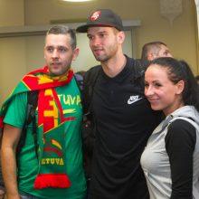 Rinktinė grįžo į Lietuvą: buvome verti daugiau