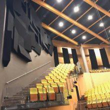 Kaina: palangiškius nustebino koncertų salėje montuojamos naujos akustinės sistemos kaina – garso kokybės įrangai skirta 170 tūkst. eurų.