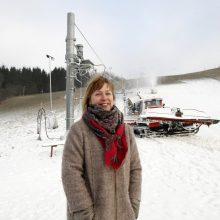 Sėkmė: L.Karbauskienei smagu, kad Utrių slidinėjimo trasa nestokoja lankytojų, kurie visada su nekantrumu laukia kiekvieno naujo sezono.