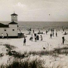 Praeitis: prieš 80 metų Palangos pliažas buvo kur kas platesnis nei dabar.