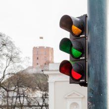 """Šimtmečio proga sostinės šviesoforai """"įjungs"""" Trispalvę"""