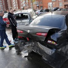 Baltarusis sumaitojo septynis automobilius ir sulaukė penkių eurų baudos
