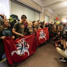 """Prezidentė su vaišėmis sutiko """"Misija Sibiras"""" ekspedicijos dalyvius"""