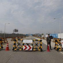 Korėjų lyderiai prieš susitikimą pasisveikins prie karinės demarkacijos linijos