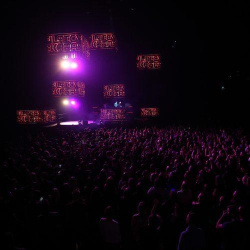 """""""Žalgirio"""" arena virto šokių aikštele  © A. Koroliovo nuotr."""