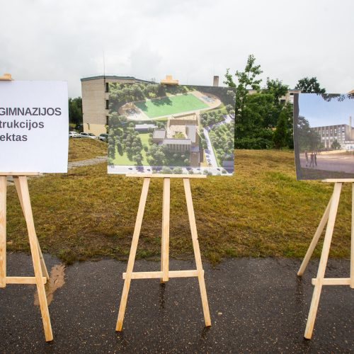 Šv. Mato gimnazijos rekonstrukcijos pristatymas