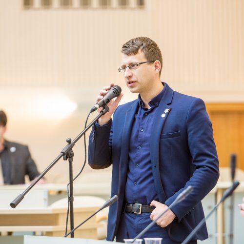Kauno miesto tarybos posėdis <span style=color:red;>(2018 balandžio mėn.)</span>  &#169; Vilmanto Raupelio nuotr.