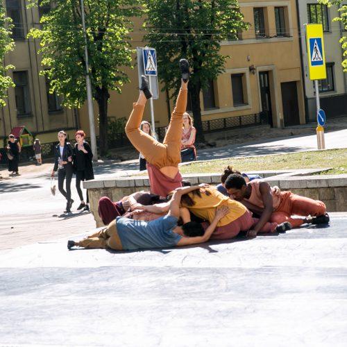 """""""Gallery Weekend Kaunas"""" žemėlapis  © Vilmanto Raupelio nuotr."""