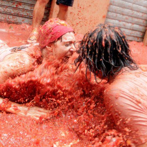 "Festivalis ""Tomatina"" Ispanijoje"
