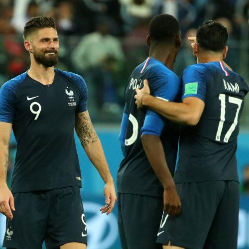 Pasaulio futbolo čempionato pusfinalis: Prancūzija - Belgija 1:0  © Scanpix nuotr.