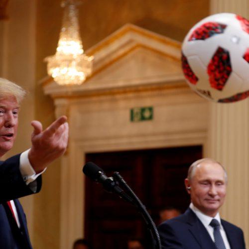 D. Trumpo ir V. Putino derybos Helsinkyje  © Scanpix, EPA-ELTOS nuotr.