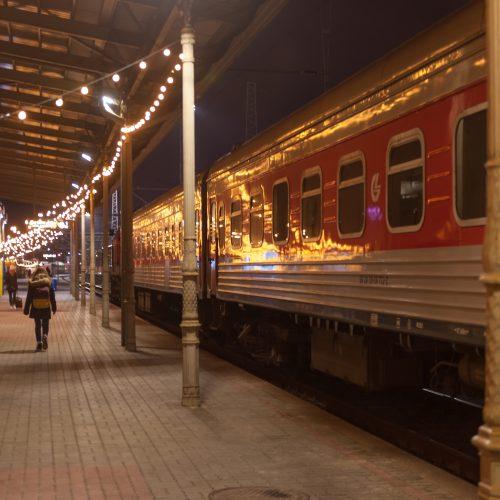 Šventinė Vilniaus geležinkelio stotis  © Butauto Barausko nuotr.