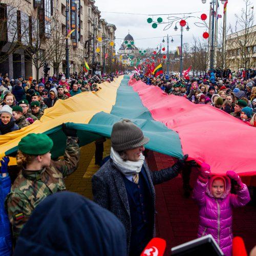 Šventinis trijų Baltijos valstybių pakėlimo ceremonija ir trispalvės nešimas
